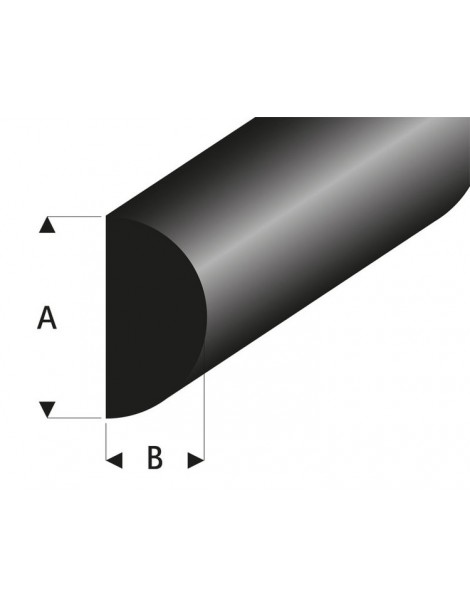 PARABORDO IN GOMMA 4 X 2 MM, 2 METRI